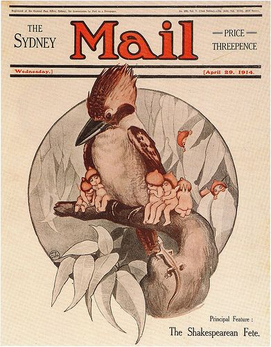 Magazine cover by May Gibbs (1914)
