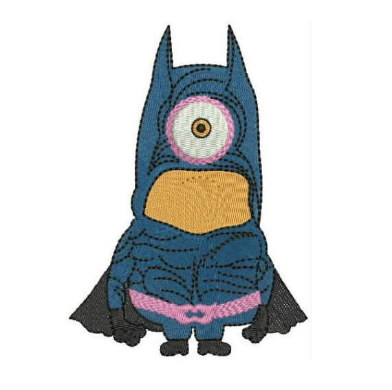 Batman Minions  Instant Download Machine Embroidery Designs