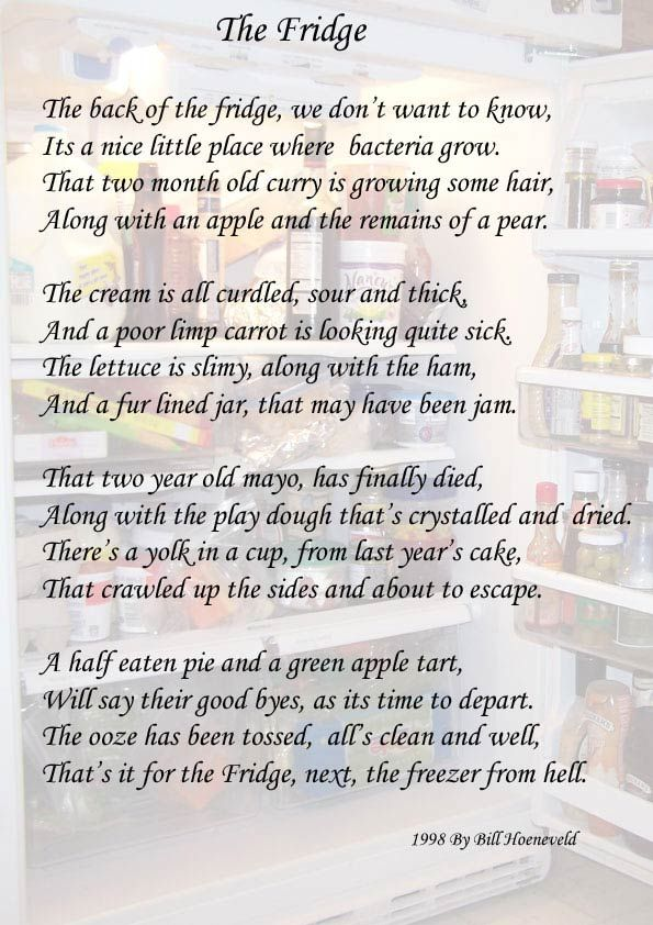 The Fridge Funny Cute Poems Funny Poems Funny Funny Cute