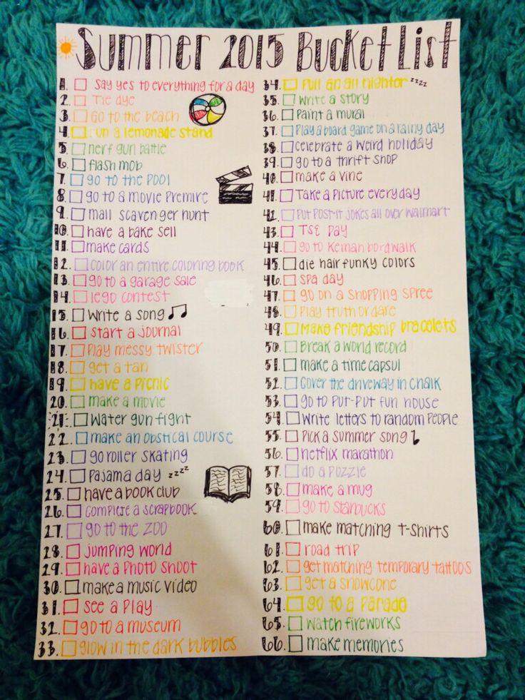 Awesome summer bucket list!!! | ᔕᑌᗰᗰƐᖇ Fᑌᑎ | Summer bucket ...