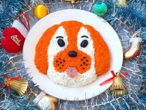 Новогодний салат «Собака»
