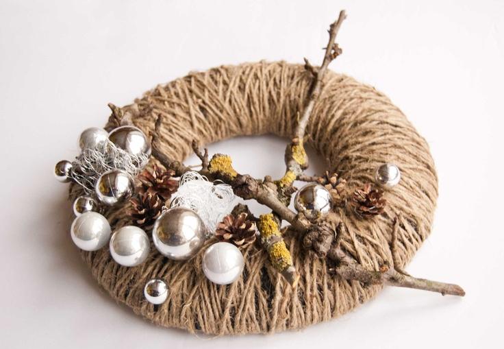 Christmas wreath - Advent wreath - candle ring - winter wreath. $38.00, via Etsy.