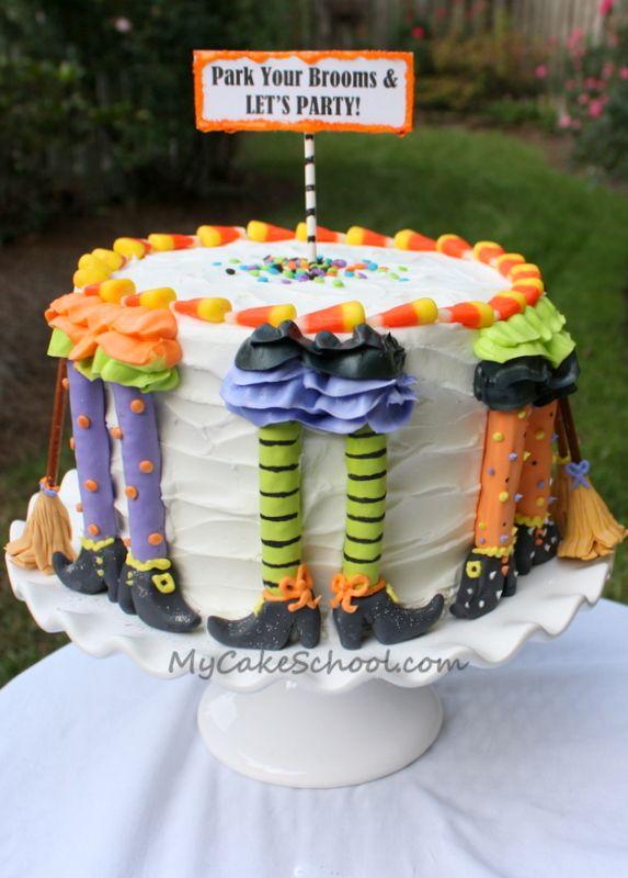Halloween/Park your Brooms Cake