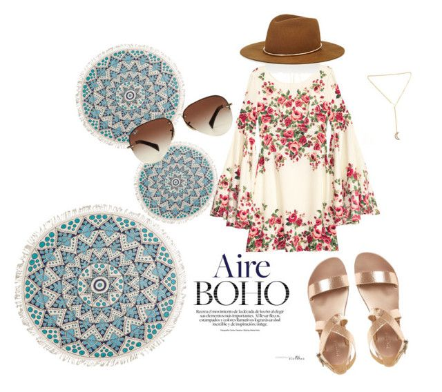 """Boho vibes"" by chrysapan on Polyvore featuring Billabong, Ray-Ban and Janessa Leone"