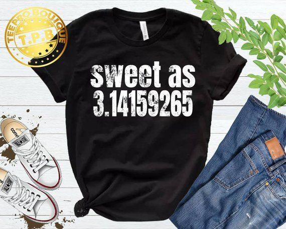 1fb8436d5 math teacher shirt - funny mathmetician shirt - sweet as pi 3.14 shirt