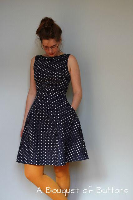 Polka dot dress by A Bouquet of Buttons
