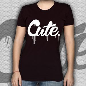 Image of Cute. - Black ladies fit t shirt