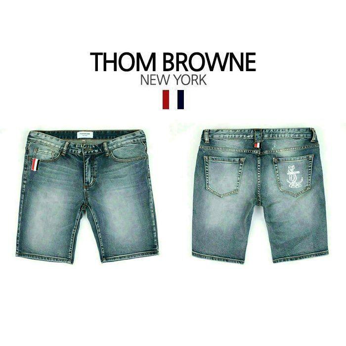 Thom Browne Anchor Marine Denim Shorts  톰브라운 앵커 마린 데님 반바지 숏팬츠