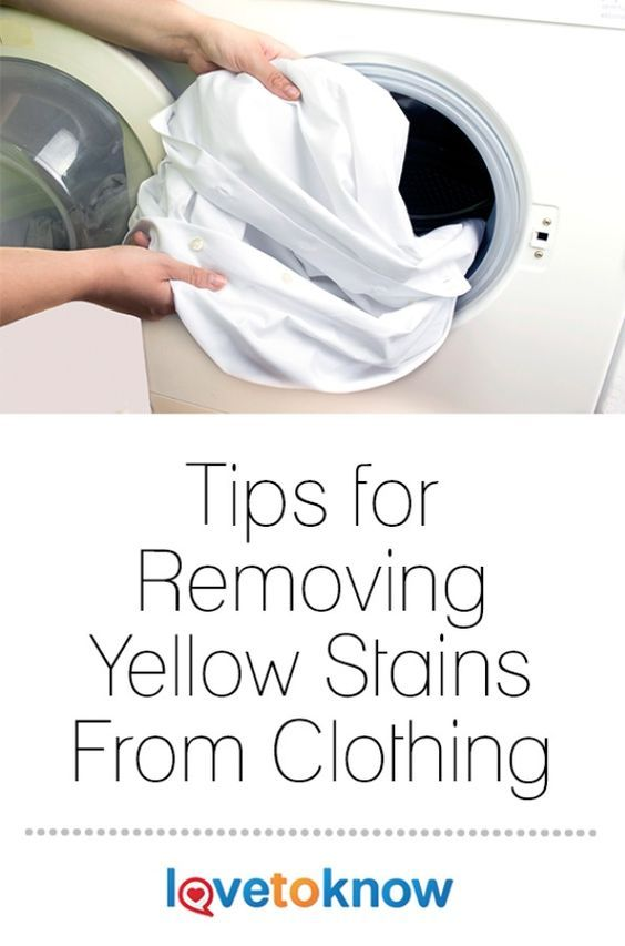 Removing yellow stains from clothing is not easy, but it is possible. Clothing, especially white clothing, will start to yellow either from sweat coming in to contact with the fabric or age. Once the fabric has yellowed, simply washing the clothing will not remove the stain and other cleaning tips have to be applied. #SpringCleaning | Tips for Removing Yellow Stains From Clothing from #LoveToKnow