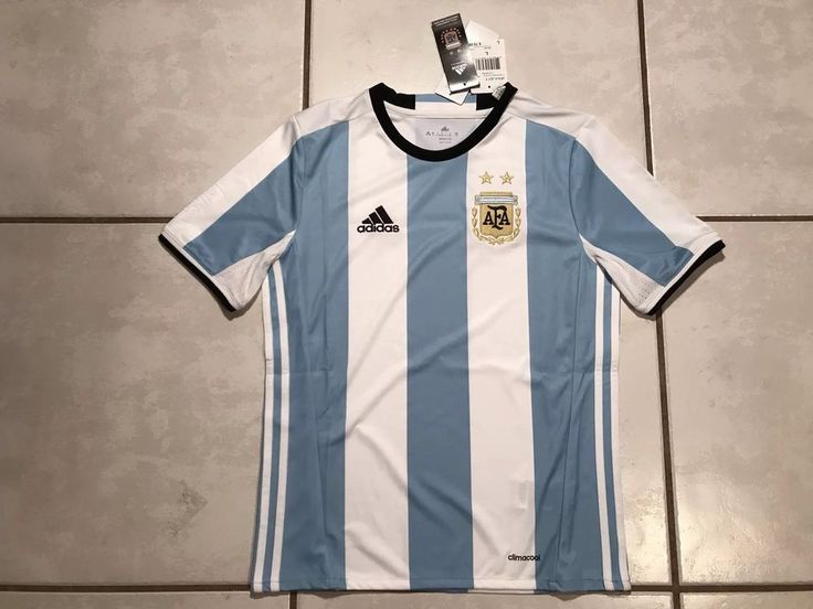 NWT ADIDAS Argentina National Team 2016  Home Soccer Jersey Youth Large  | eBay