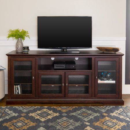 Manor Park Contemporary Tv Stand For Tvs Up To 78 Espresso Walmart Com Contemporary Tv Stands Tv Stand Home Decor Furniture 30 inch high tv stands