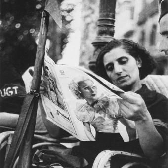 Barcelona August 1936. By Robert Capa. http://iberianature.com/barcelona/category/history-of-barcelona/spanish-civil-war-in-barcelona/
