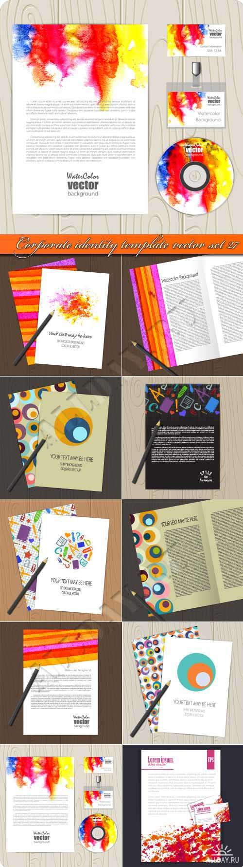 Корпоративный стиль 27 | Corporate identity template vector set 27