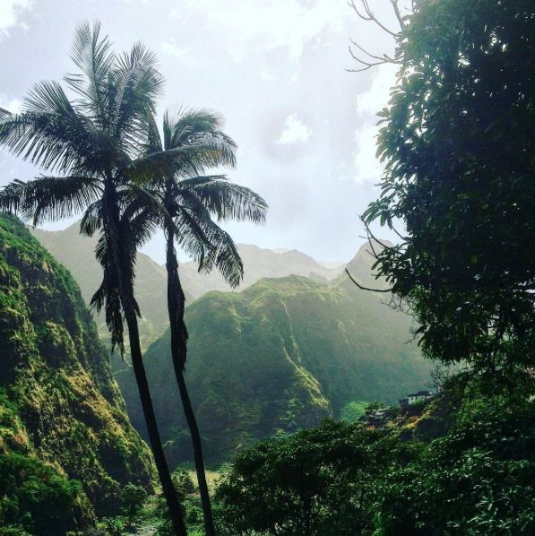 Wow, what a beautiful place! Santo Antao, Cape Verde. Spanish speaking island off the African Coast of Senegal- Maurttainia