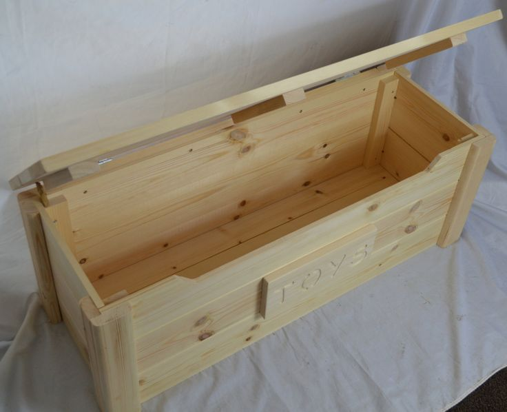 Handcrafted Wooden Rustic Pine Trunk Chest Toy Box Natural Untreated Top Quality You wont believe the quality, You wont believe the price!! SOLID PINE DELUXE TOY CHEST Personalised solid pine toy box with safety front and child safe lid stay. These are very strong and sturdy and are hand built here in yorkshire they have a safety cut out at the front to stop fingers getting trapped and also a safety lid stay fitted. Dimensions are as follows: 93cm length 33cm deep 35cm high This ches...