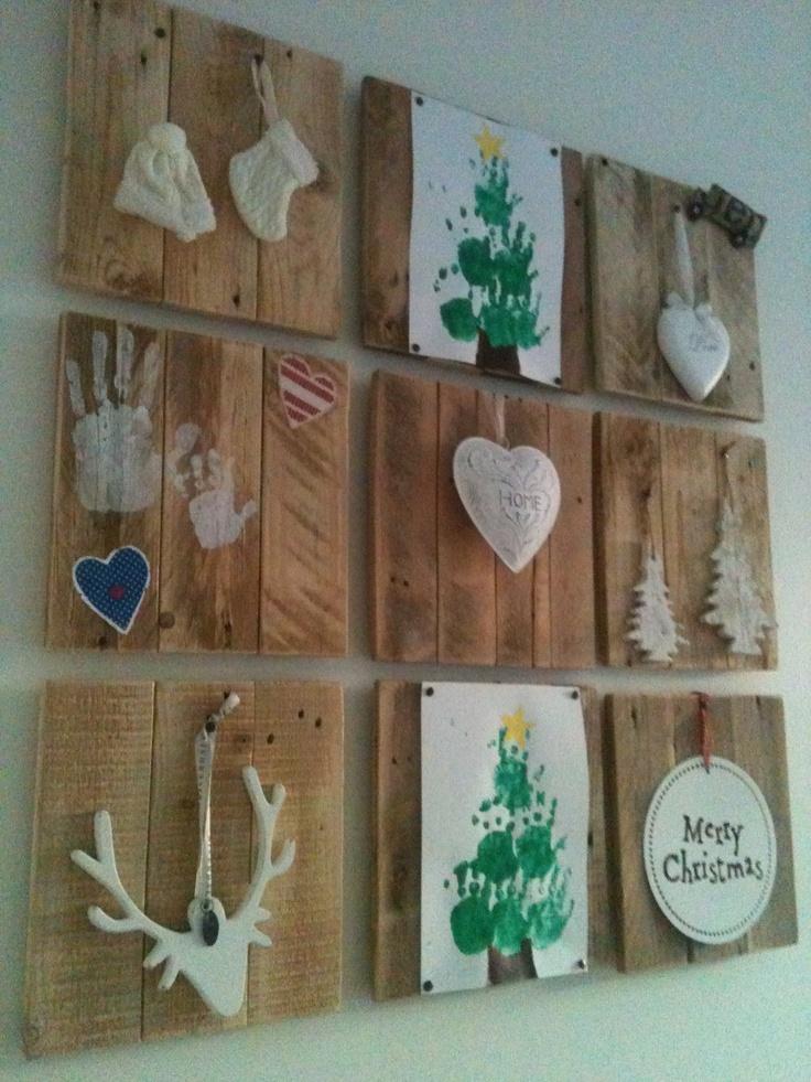 Kerstdecoratie op sloophout