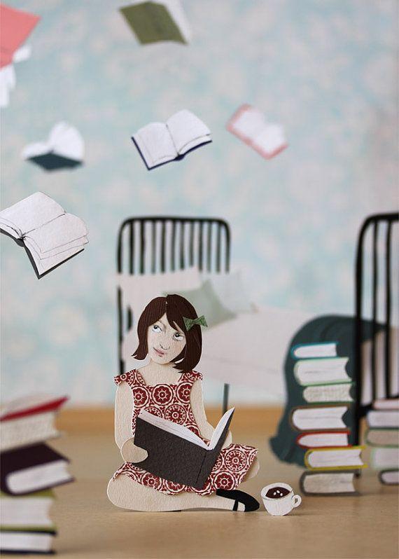 The power of reading!: Paper Sculpture, Roald Dahl, Reading Books, Cut Paper, Children Books, Great Books, Paper Crafts, Girls Rooms, Jaym Mcgowan