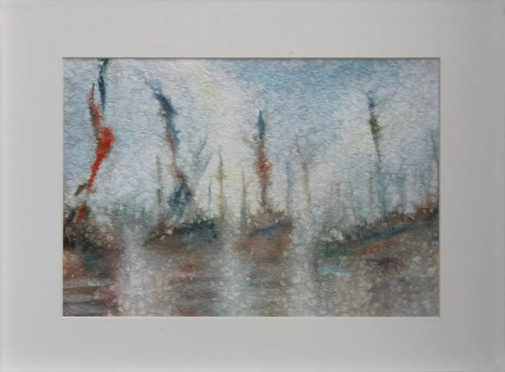 """""""Boats in the Fog"""" 2015 30 x 21 cm Watercolour on cotton paper 300 g luigibarra.blogspot.it"""