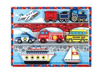 Melissa & Doug classic chunky vehicles puzzle AGE 12 months +