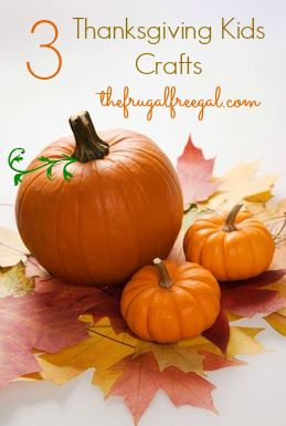 three thanksgiving kids crafts