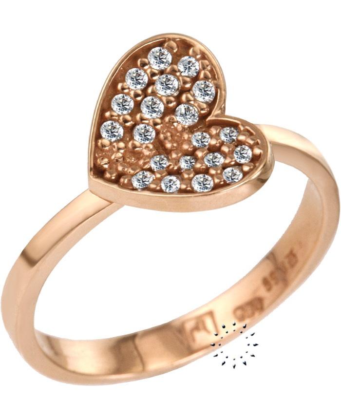 Δαχτυλίδι Καρδιά 14 καράτια Ροζ Χρυσό με Ζιργκόν  205€  http://www.kosmima.gr/product_info.php?products_id=13226