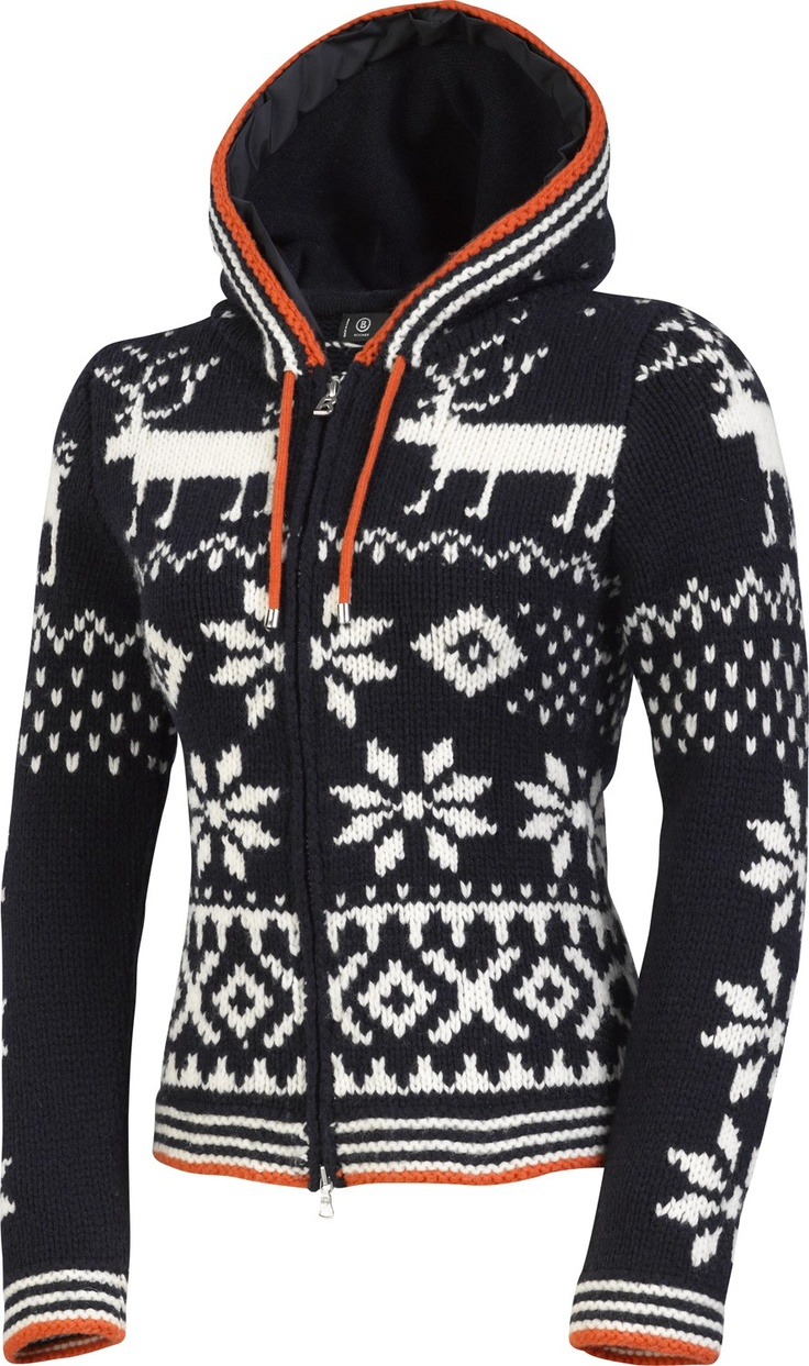 Bogner Women's Suzan Sweater Navy-would this still look cute on the bunny slopes?