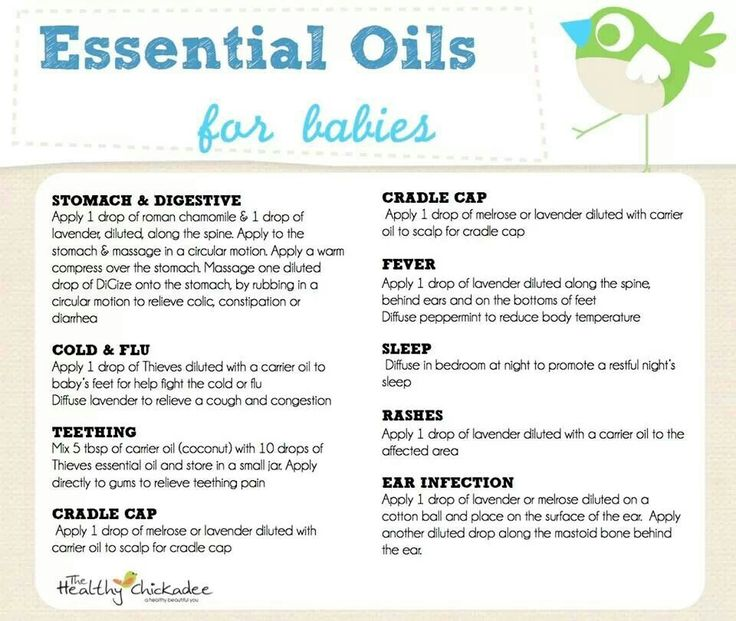 Essential Oils for Babies This information is for educational purposes only, and is not intended to prescribe, treat, prevent, or diagnose any disease or condition.
