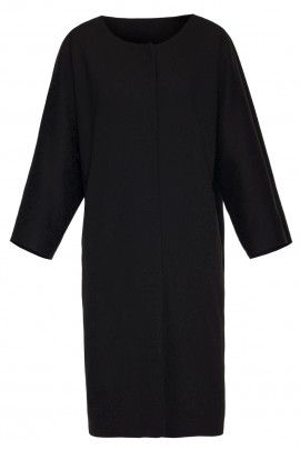 Płaszcz czarny z kieszeniami
