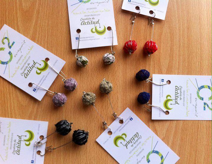 ¿buscas accesorios sustentables y únicos? C2Organic# tiene estos hermosos aros de algodón orgánico. Ideales para completar tu tenida o como regalo estiloso.