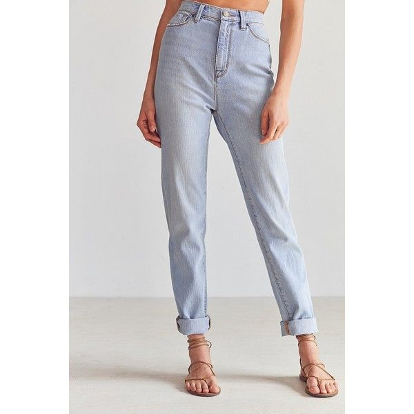 BDG Mom Jean ($59) ❤ liked on Polyvore featuring jeans, relaxed straight jeans, slouch jeans, high waisted jeans, relaxed fit jeans and highwaist jeans