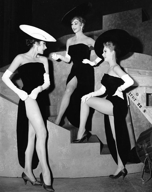 Kay Kendall, Taina Elg and Mitzi Gaynor on the set of Les Girls (George Cukor, 1957) from ladylikelady