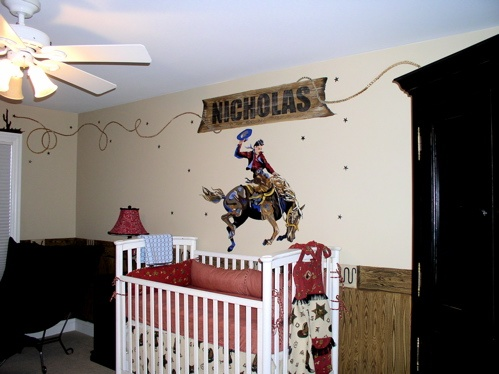 Love The Bucking Horse For A Little Boys Room Cowboy