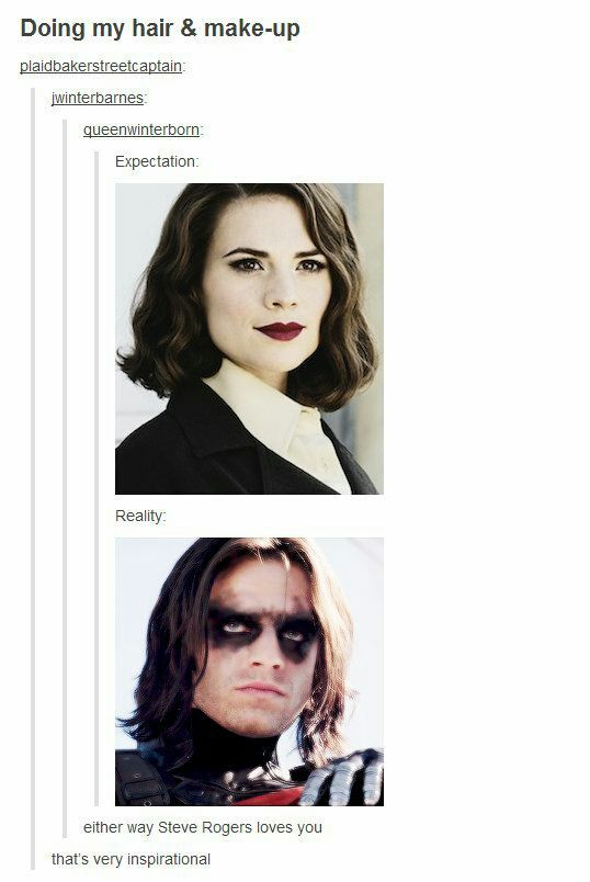 Everyone's beautiful to Captain America! hahaha I find this way too funny