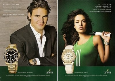 Roger Federa for TAG Heuer ad @ TAG-Heuer-Watches .com