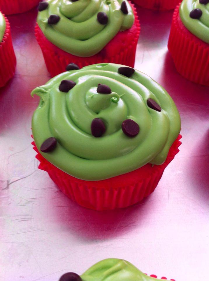 Cupcakes melon d'eau