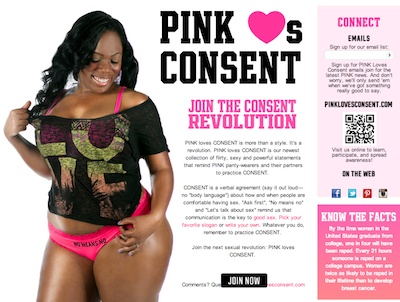 "Victoria's Secret ""PINK LOVES COSENT"" Anti-Rape Campaign Turns Out to Be a (Brilliant) Hoax"