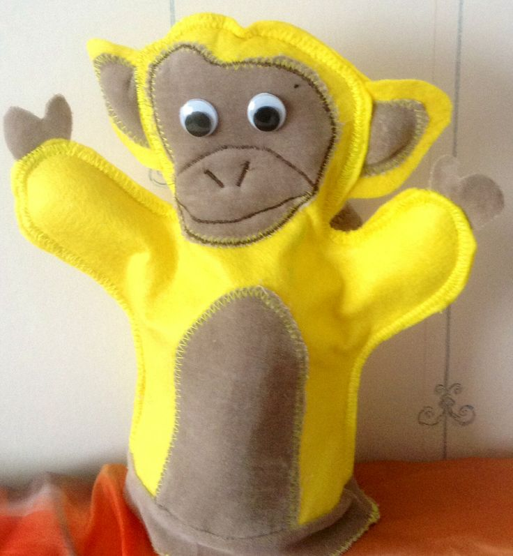 Monkey hand puppet Designed by Sinipellavainen