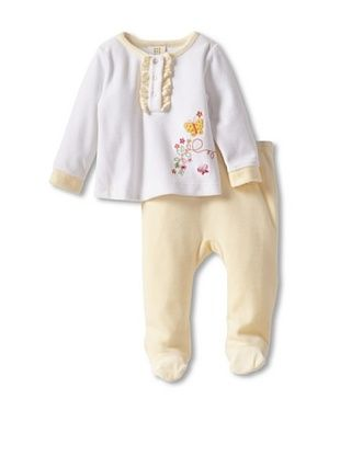 Absorba Baby Butterfly Footie Set