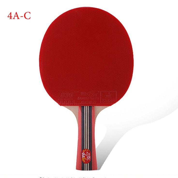 sporting goods genuine double fish four-star horizontal racket table tennis racket seven bottom board ping-pong bat for beginner