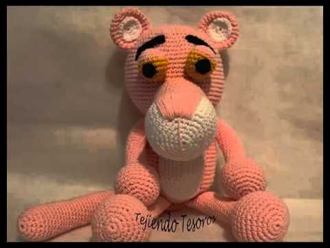 pantera rosa Amigurumi (tutorial schema)/How to crochet pink panther Amigurumi - YouTube