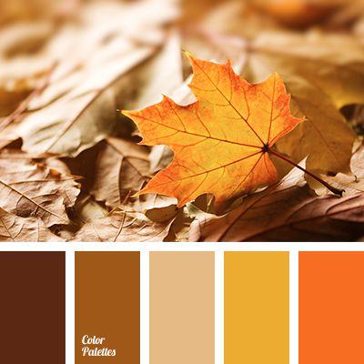 Autumn Colours Beige Beige And Orange Bright Red