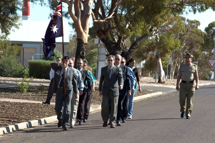 Anzac Day at Woomera, 2005.