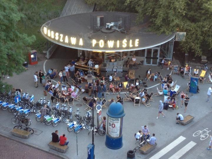 Warszawa Powiśle - Bier garden in the centre of #Warsaw