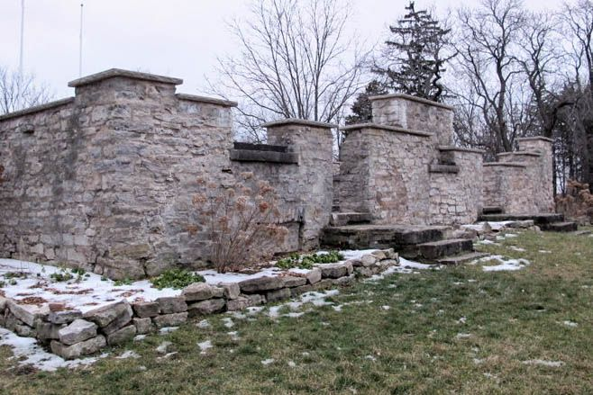"""Ruins of the """"Decew House"""" where Canadian hero, Laura Secord, ended her 32 km journey by foot to warn Lieutenant Fitzibbon of an impending American attack. The house can be found on the Bruce Trail Niagara. #laurasecord #decewhouse #brucetrail"""