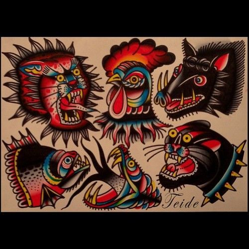 traditional rooster tattoo - Google Search