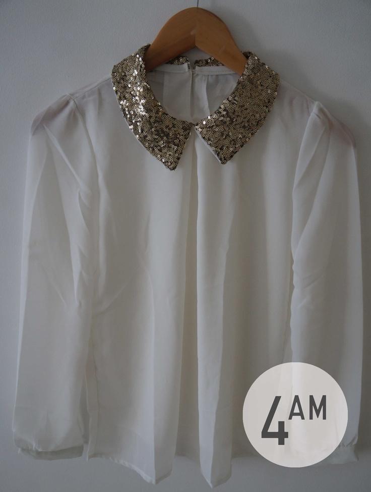 blusa cuello lentejuelas 4AM