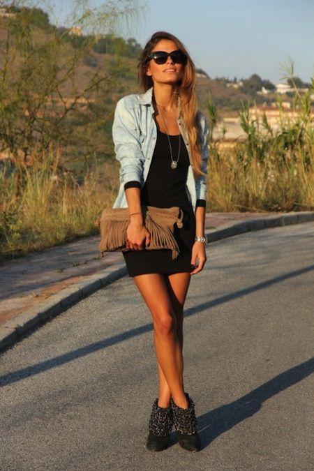 ¿Cómo usar vestidos cortos?