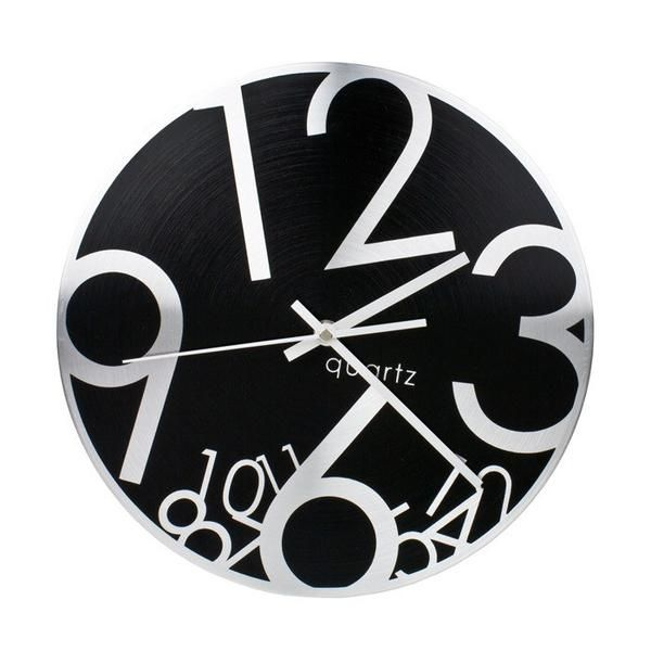 Wall Clock Tumbler Aluminium Wall Clock (30cm) | Koop.co.nz