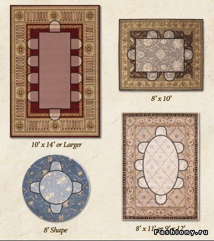 Dining room rug size guide