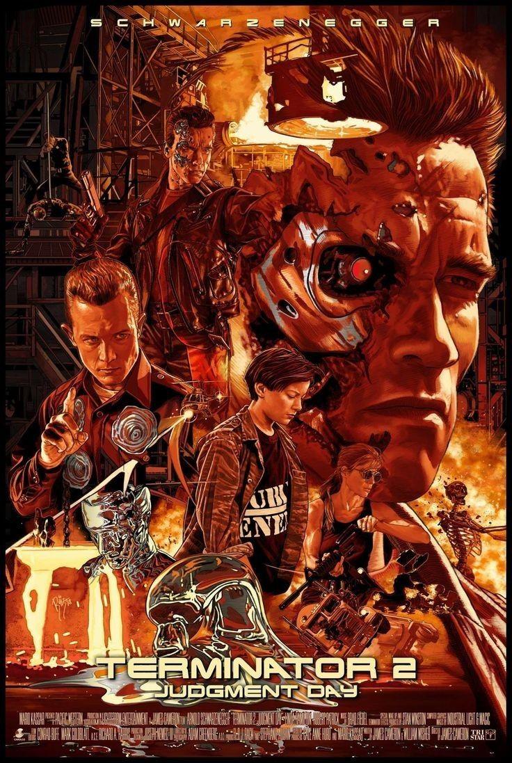 Terminator 2 Judgment day poster | Movie artwork, Movie ...